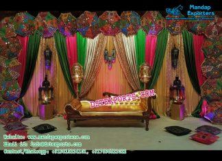 Wedding Stage Backdrop Decor With Umbrellas