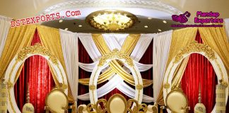 Wedding Stage Decor With Oval Panels