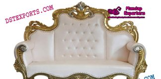 Wedding Stage Metal Carved Sofa
