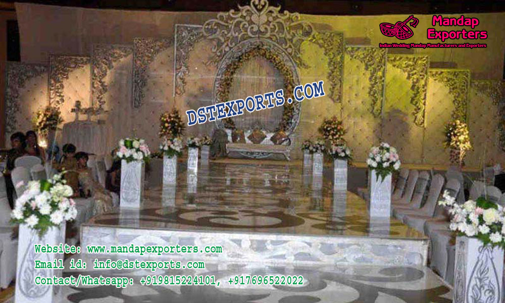 Stylish Wedding Stage Leather Tuffted Panels