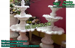 Fiber Fountains for Walkway Decoration