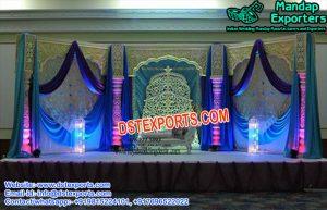 Grand Wedding Stage Backdrop Decoration