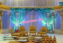 Ancient Indian Wedding Stage Decor