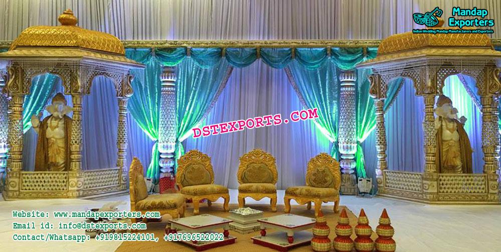 Ancient Indian Wedding Stage Decor Mandap Exporters