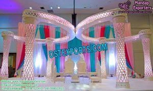 Dreamy Diamond Crystal Wedding Mandap