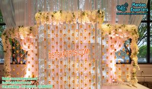 Candle wall Western Stage Decor