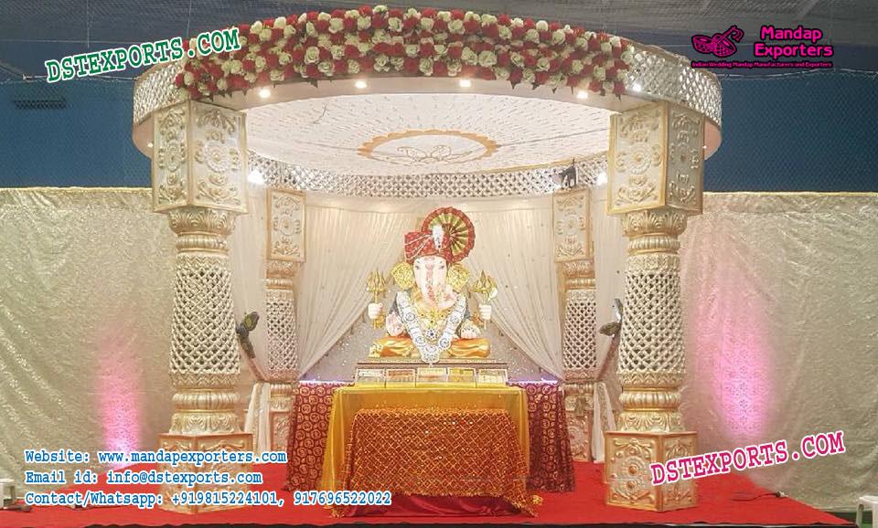 Conventional Indian Wedding Mandap Decoration