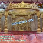 Exceptional Wedding Fiber Golden Mandap