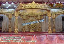 Exceptional Wedding Fiber Golden Mandap