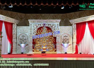 Exquisite Bollywood Wedding Stage Decor