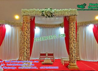 Exquisite Wedding Fiber Pillars