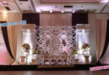 Fiber Backdrop Frame Panels For Marriage Stage