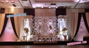 Fiber Backdrop Frame Panels For Marriage Stage