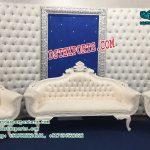 Gorgeous Wedding Leather Tufted Stage Decor