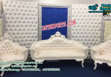 Gorgeous Wedding Leather Tufted Stage Decor