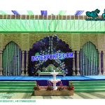 Grand Peacock Theme Wedding Stage