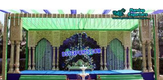 Grand Peacock Theme Wedding Stage