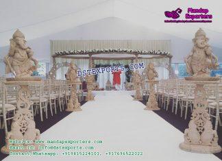 Hindu Wedding Walkway Decor With Ganesha
