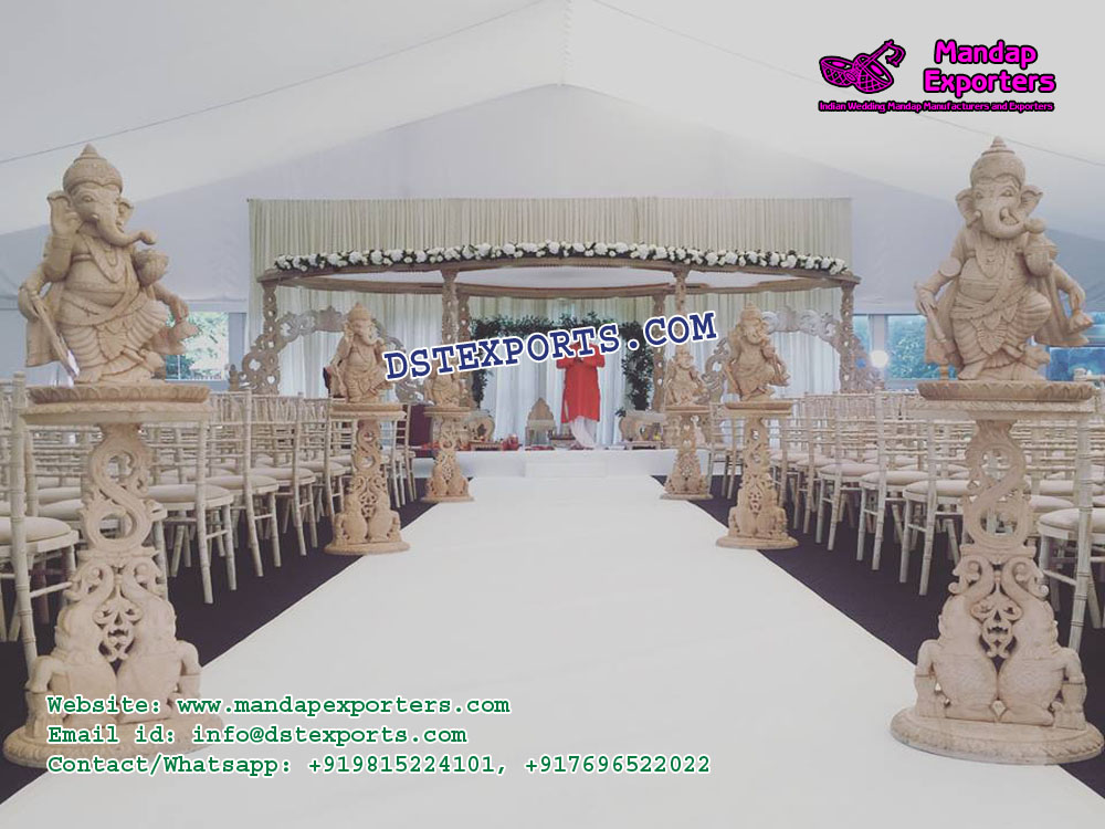 Hindu Wedding Walkway Decor With Ganesha