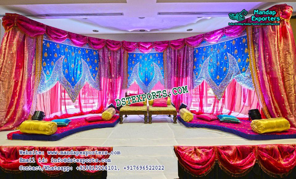 Impressive Wedding Stage Backdrop Decor