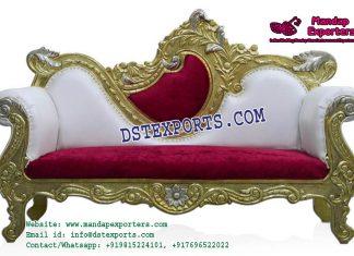 Indian Wedding Classy Golden Sofa