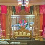 Indian Wedding Reception Decorative Stage Set