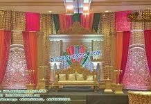 Indian Wedding Reception Decorative Stage Set