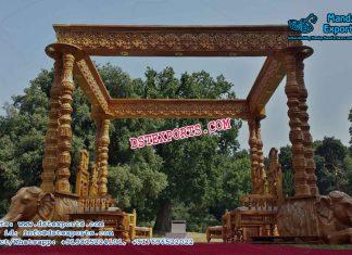 Indian Wedding Traditional Elephant Pillar Mandap