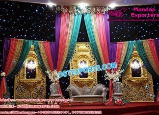 Filmy Style Wedding Jharokha Stage