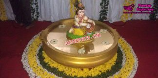 Krishna Statue For Wedding Entrance Decor