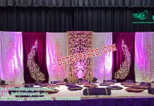 Mehandi Stage Embroidered Backdrop With Panels