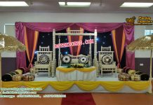 Norway Wedding Sangeet Stage Decoration