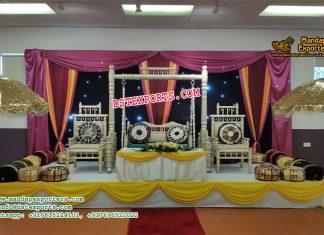 Norway Wedding Sangeet Stage Decoration