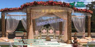 Outdoor Wedding Fiber Mandap Decoration