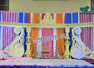 Precious Wedding Stage Decor With Paisleys