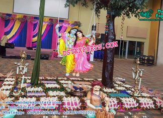 Radha Krishan Statue For Wedding Entrance