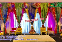 Rajasthani Style Wedding Stage Backdrop Curtains