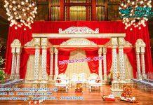South Indian Marriage Twin Pillar Mandap