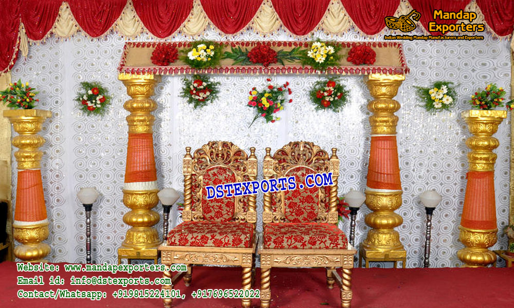 South Indian Wedding Stage Decoration Mandap Exporters