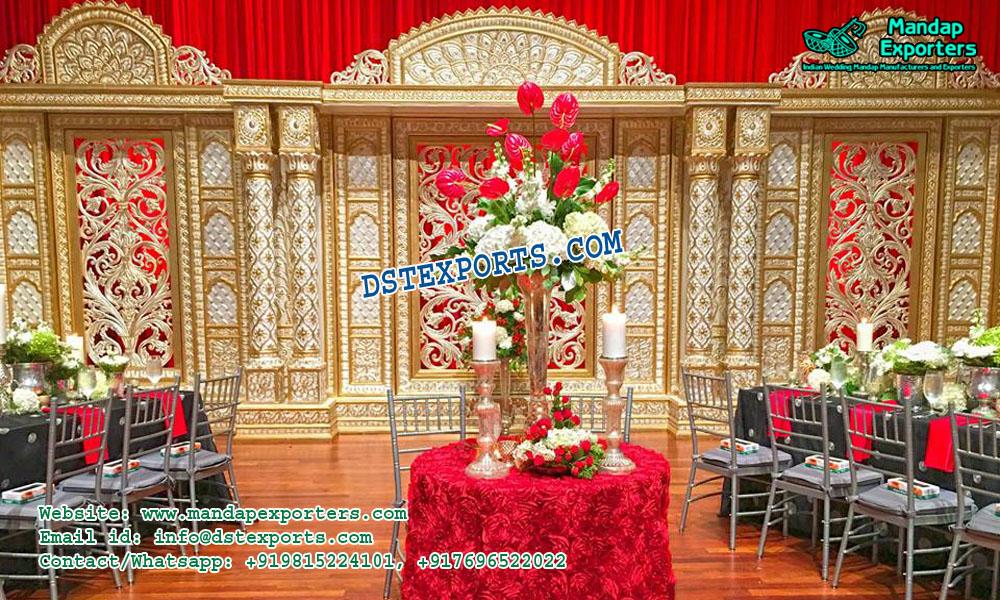 Splendid Indian Wedding Stage Decoration Mandap Exporters