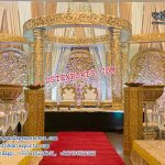 Traditional Hindu Wedding Golden Mandap