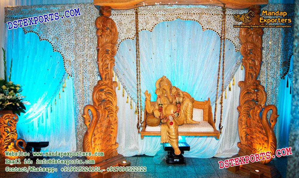 Wedding Entrance Decor Ganesha On Swing