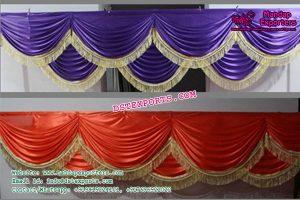 Wedding Mandap Backdrop Colorful Swags