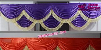 Wedding Mandap Backdrop Colorful Swags