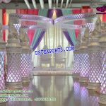 Wedding Walkway Crystal Pillars With Ganesha