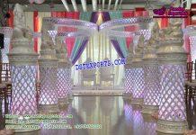 Wedding Walkway Crystal Pillars With Ganesha
