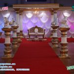 Wedding Walkway Fiber Pillars Decoration
