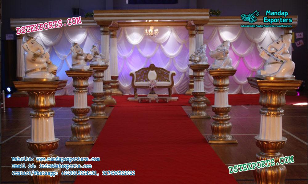 Wedding Walkway Fiber Pillars Decoration