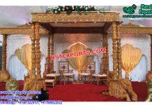 Elephant Base Wooden Wedding Mandap