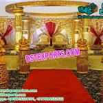Fantastic Gold Theme Wedding mandap